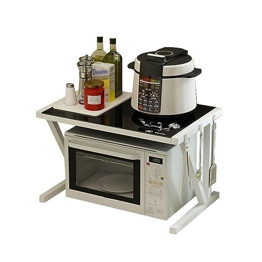 Estante de la cocina Rejilla de horno de microondas de 2 niveles ...