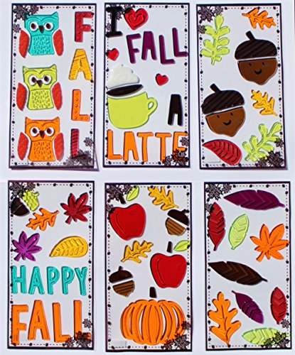 Fall Window Gel Clings, 6 Sheets (Gel Clings)