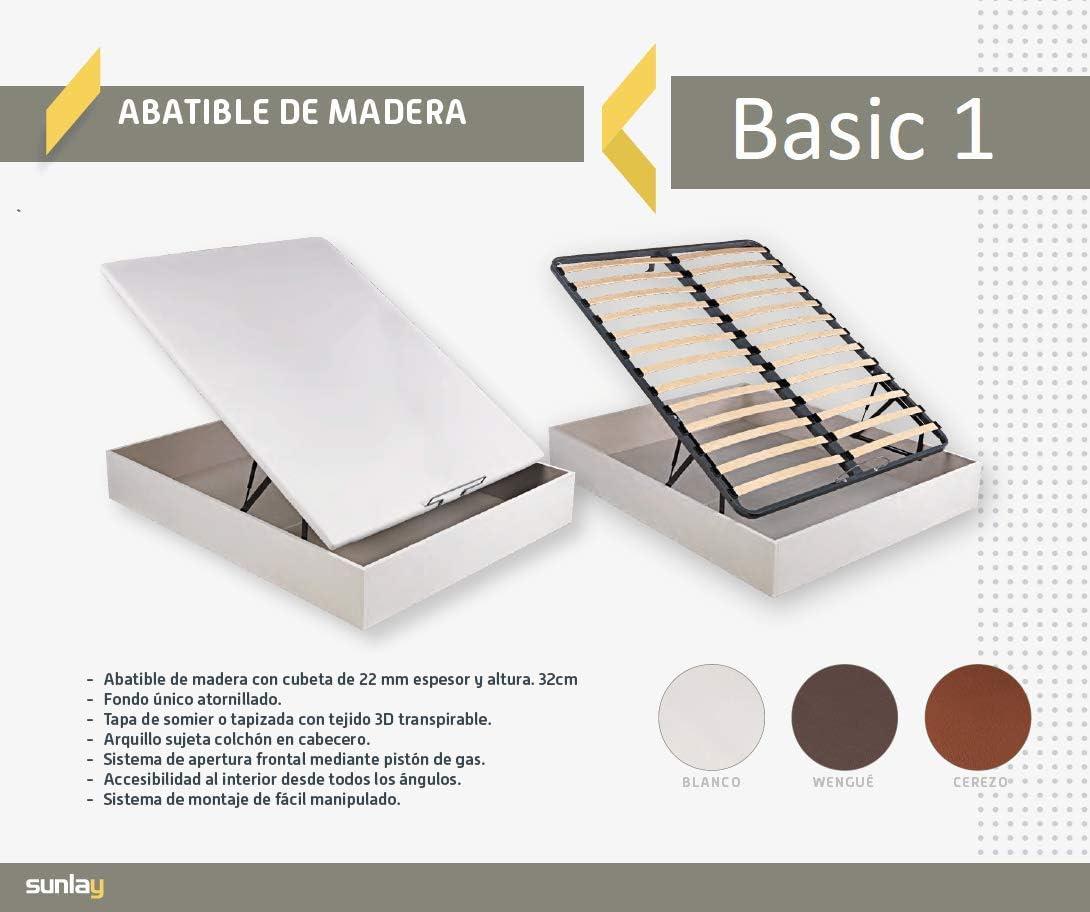 Canapé Abatible de madera modelo: Basic 1 Wengué – Sunlay 150x190 cm