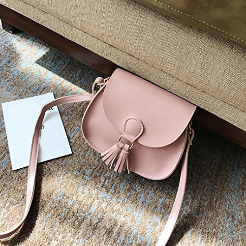 n Retro Simple Bag, Mini Crossbody Shoulder Bag (Pink) (Gucci Chain Large Hobo)