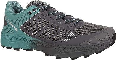 SCARPA Spin Ultra - Zapatillas para correr para hombre, Negro (Plancha/Mar Profundo), 43.5 EU: Amazon.es: Zapatos y complementos