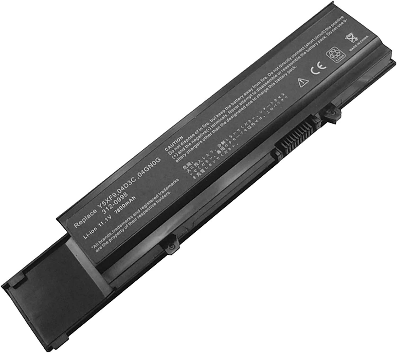 Bay Valley Parts 9 Cell 11.1V 7800mAh New Replacement Laptop Battery for DELL: Vostro 3400 Vostro 3500 Vostro 3700 V3400 V3500 V3700 004GN0G 04D3C 312-0998 4JK6R CYDWV P06E P09F TXWRR TY3P4