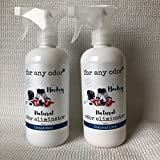 The Official Odor Eliminator of Hockey - Eliminates nasty hockey equipment odors. Safe for gloves and contact with skin. By OAM Solutions.Unscented - 2 16 oz Bottles
