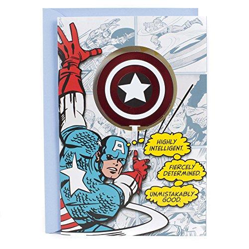 Hallmark Birthday Greeting Card for Kids (Captain America) -