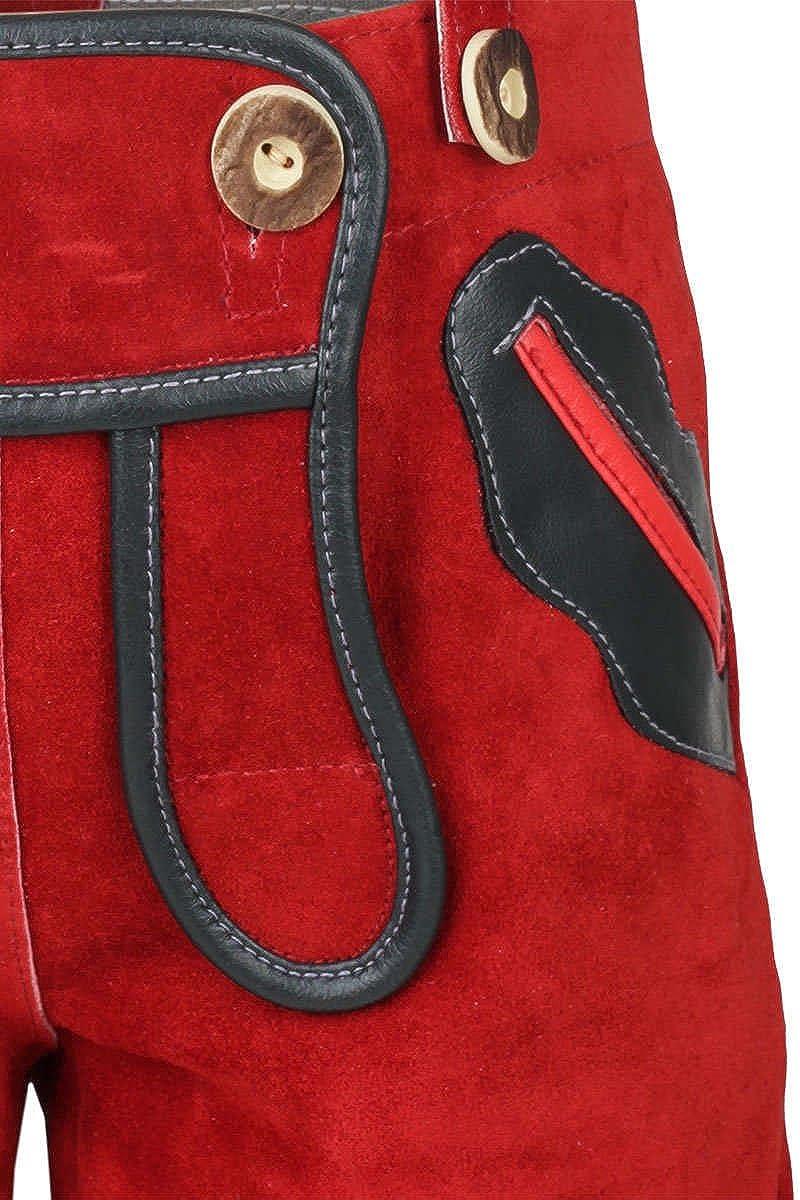 Kinder Kinderlederhose rot St/ützle Unisex rot,