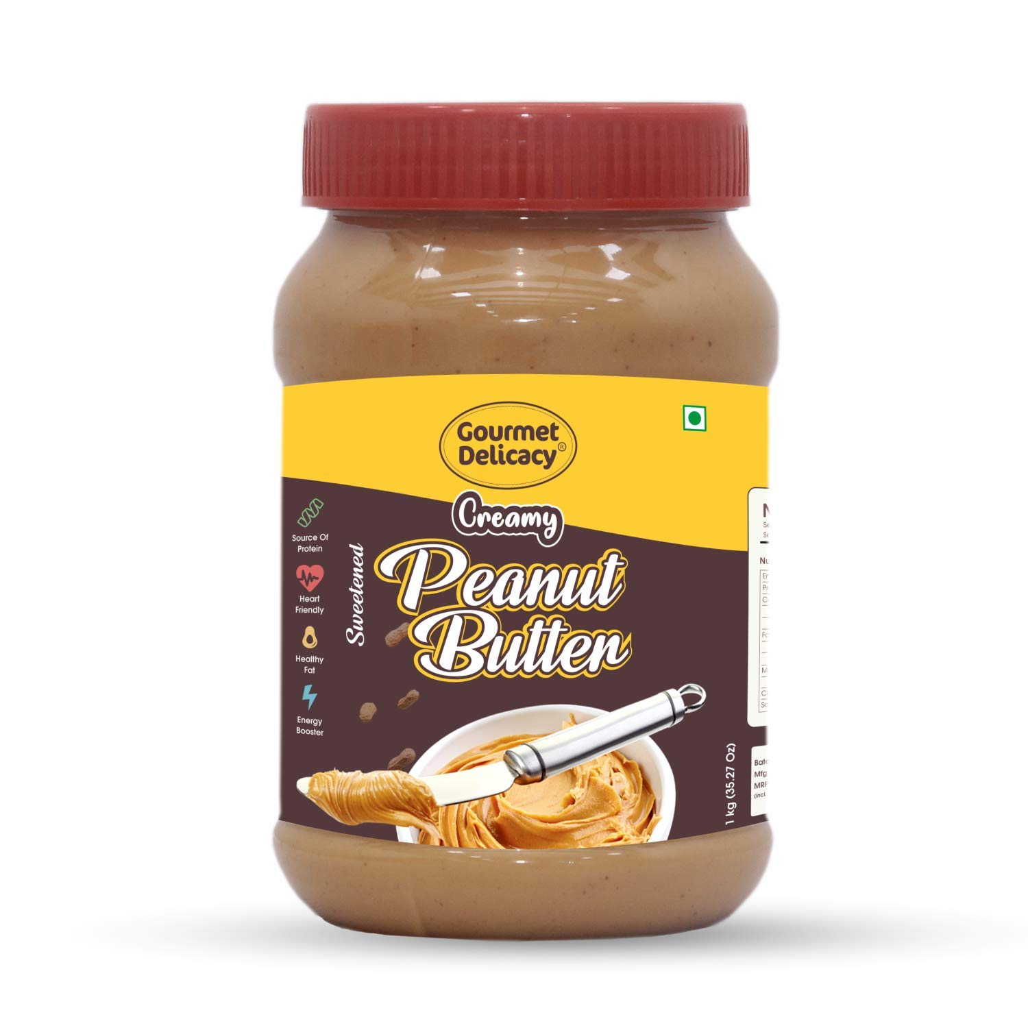 Gourmet Delicacy All Natural Creamy Peanut Butter (Unsweetened) 1 kg