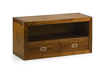moycor star meuble tv avec 2 tiroirs 90 x 35 x 45 cm