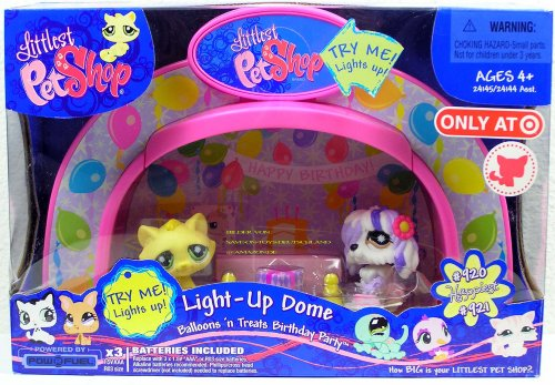 Littlest Pet Shop Exclusive Playset Light Up Dome Balloons 'n Treats Birthday Party