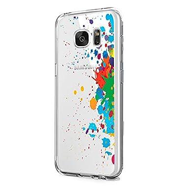Teryei® Funda Samsung Galaxy S7 Edge Silicona TPU Carcasa Anti-arañazos Protección Ultra Slim Suave Transparente Caso Cover Anti-Scratch Choques para ...