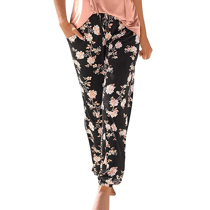 Alaso Pantalones Harem para Mujer de Cintura Alta para Yoga ...