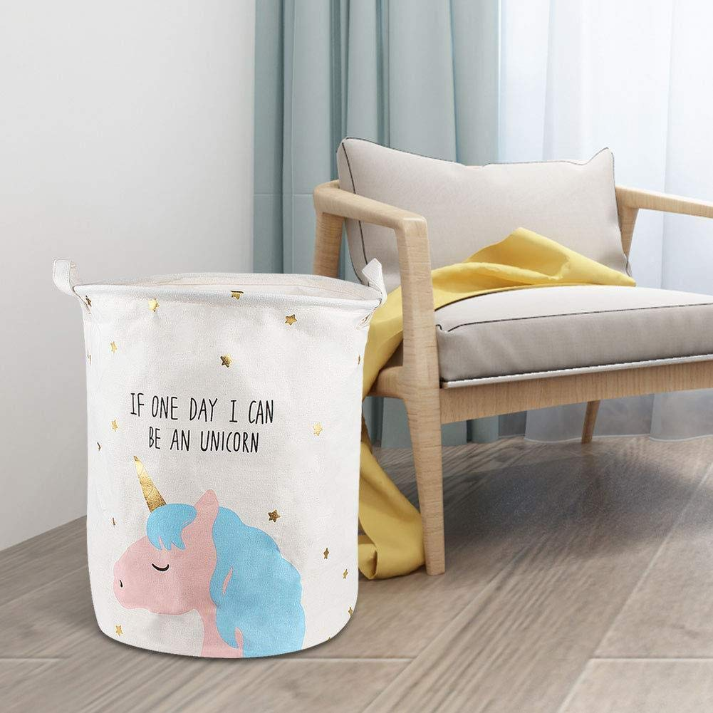 Depory Unicorn Toy /& Laundry Storage Organizer Bin Cestino Borsa Scatola per la Camera dei Bambini C