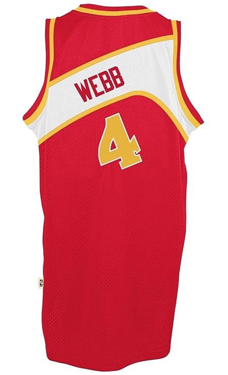 168f548d6ee Amazon.com   Spud Webb Atlanta Hawks Adidas NBA Throwback Swingman Jersey -  Red   Sports   Outdoors