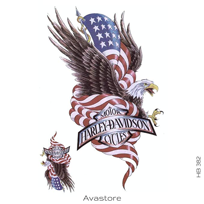 Avastore - Tatuaje temporal de águila Harley Davidson, tatuaje ...