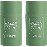 2 stuks groene thee-purifying Clay Stick masker oliecontrole gezichtsmasker, stick diep reinigend anti-acne-masker fijn…