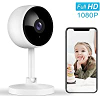 Indoor Security Camera, Littlelf 1080P Home Wifi Wireless Camera with 2-Way Audio Night Vision Motion Detection for Pet…
