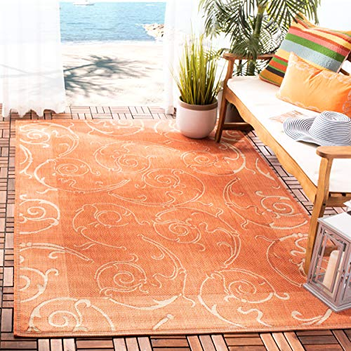 Safavieh Courtyard Collection CY2665-3202 Terracotta and Natural Indoor/ Outdoor Area Rug (5'3
