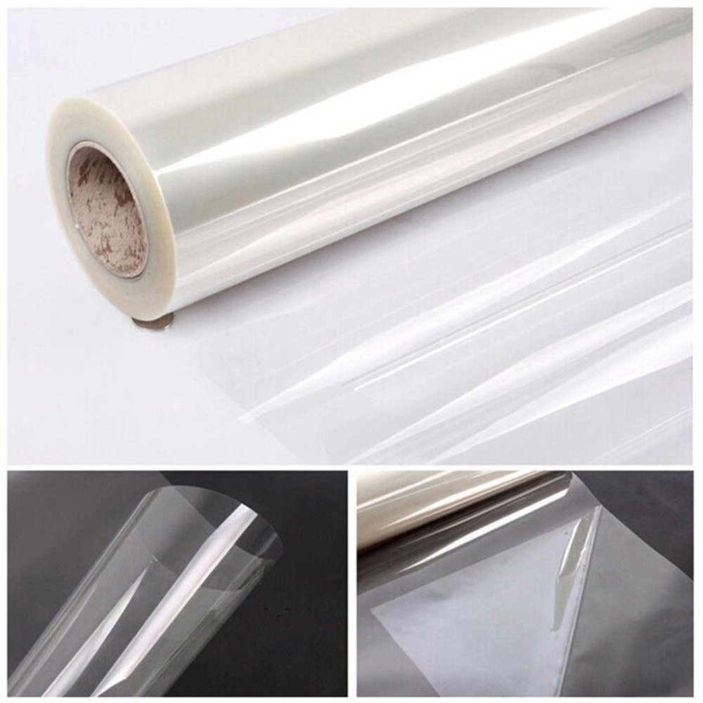 [HOHO] 2Mil Clear Safety and Security Window Film UV Protection,60'' Wide x 66ft Roll