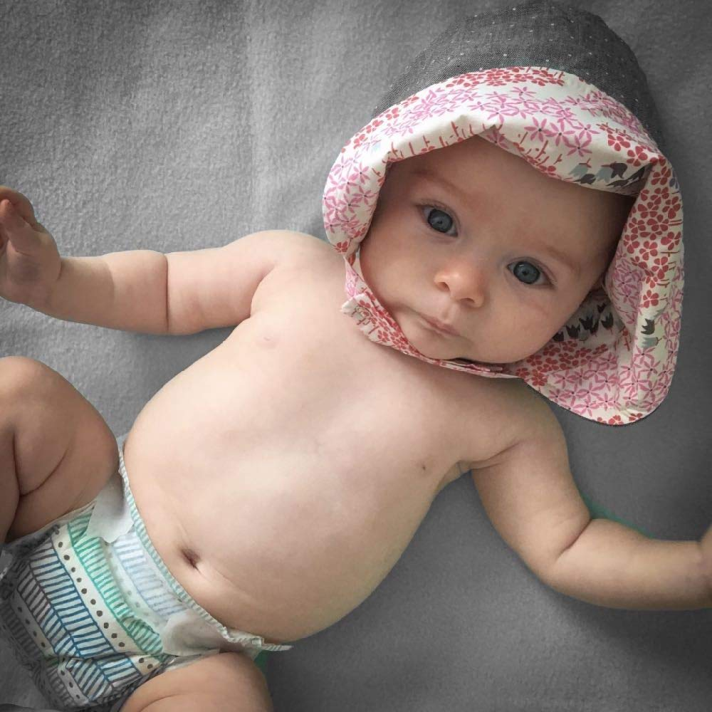 ModBonnet in Centered M (18-19.25in, 12-24m) Pink by UB2 Urban Baby Bonnets