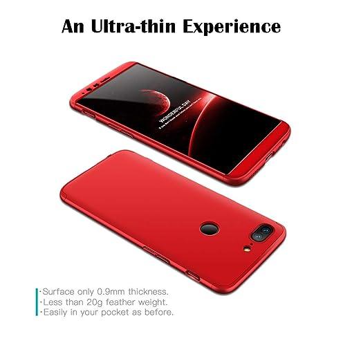 GoodcAcy Funda Oneplus 5T,Carcasa Móvil de Protección de 360°+ Cristal Templado HD Protector de Pantalla 3 en 1 Desmontable con Caso Case Cover para ...
