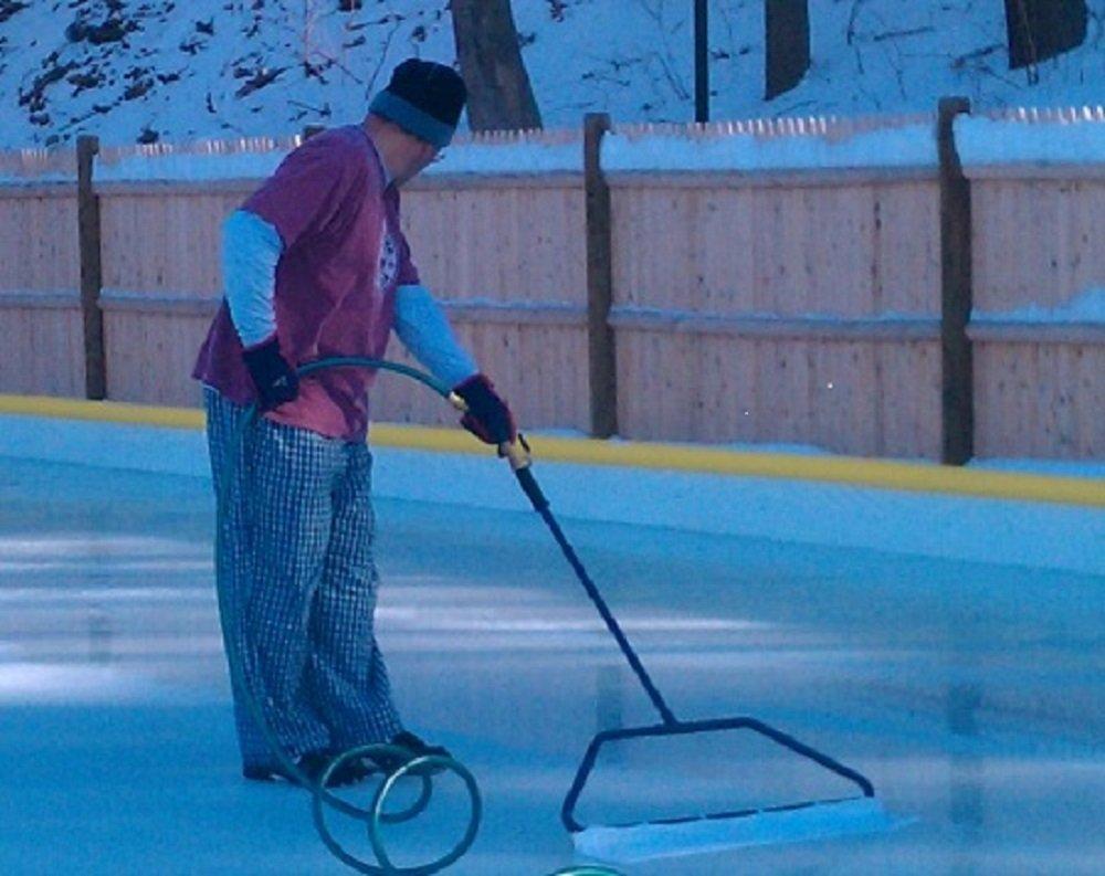 backyard ice rink resurfacer part 21 homemade zamboni on