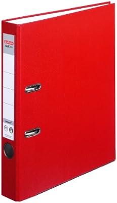 Herlitz 9942582 - Archivador A4 5cm papel reciclado color rojo ...