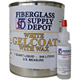 White Gelcoat with Wax - Quart with 15cc Hardener (MEKP)