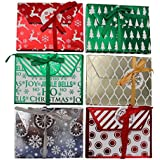 Christmas Foil Gift Card Holders- Assorted Holiday Designs -(18 Count}
