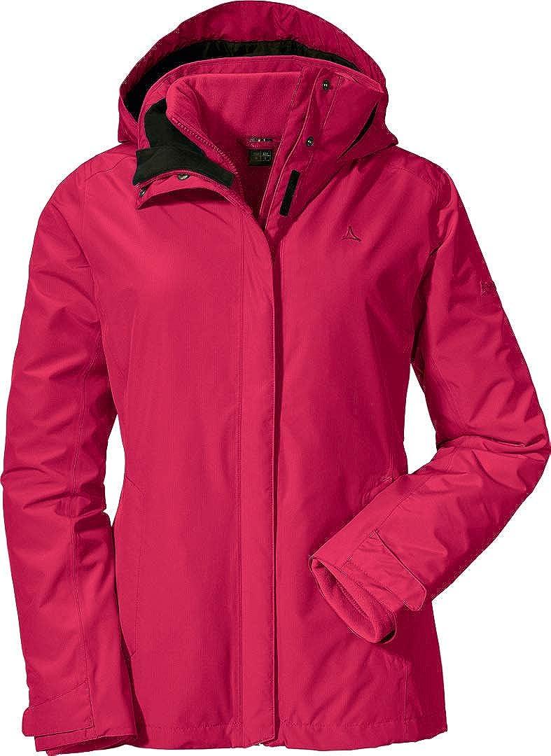 Schöffel Damen 3in1 Jacket Tignes1, Wasser-und Winddichte Outdoor Jacke, Winterjacke Warmer Fleece-Innenjacke, Robuste Regenjacke Doppeljacke