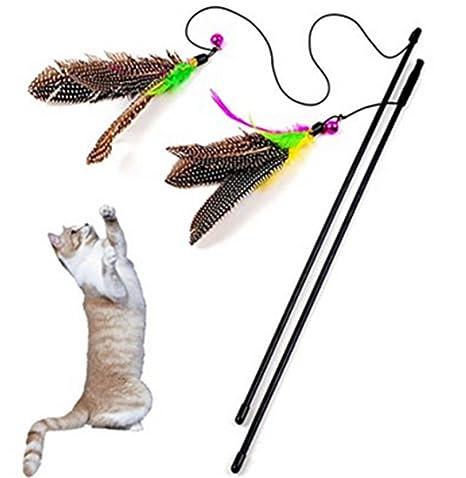 Namgiy Palos de juguete interactivos para gatos, juguetes ...