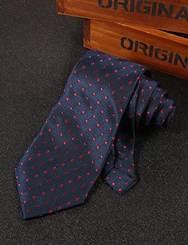 COOFANDY Men's Business Necktie Classic Silk Tie Woven Jacquard Neck Ties by COOFANDY (Image #5)