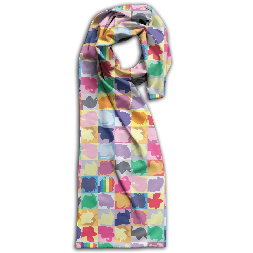 Unisex My Little Pony Plain Knitted Warm Winter Outdoor Scarf For Adults
