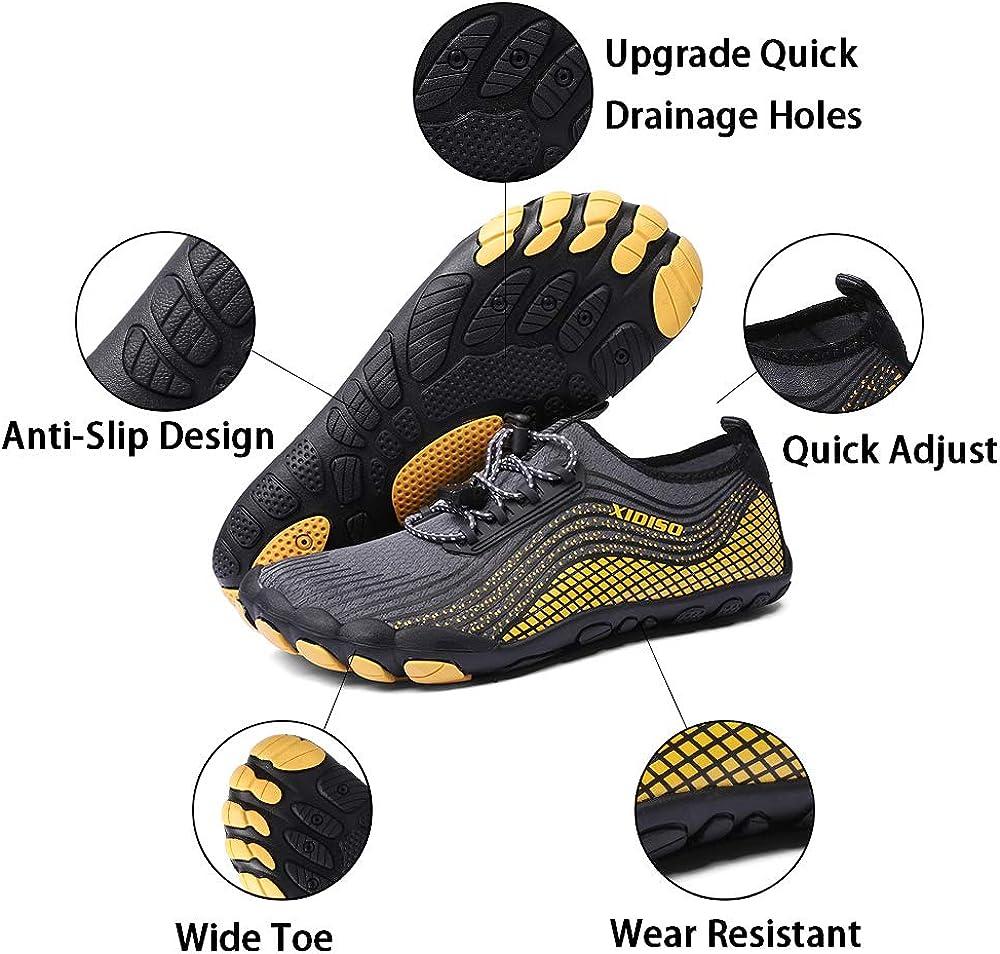 XIDISO Mens Womens Water Shoes Lightweight Quick Dry/Barefoot for Swim Diving Surf Aqua Socks Sports Pool Beach Walking Yoga