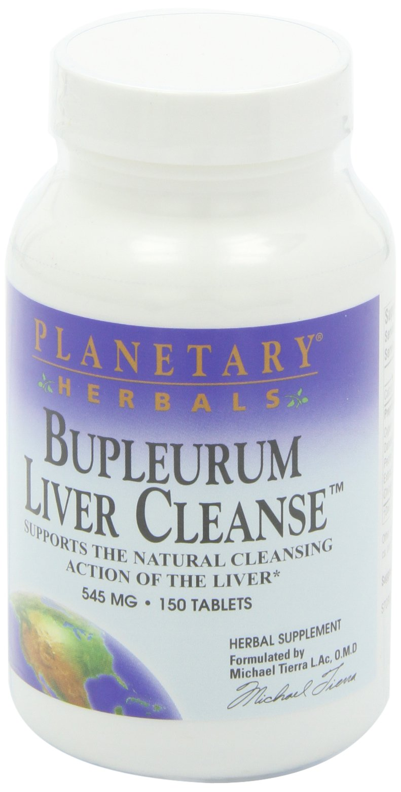 Planetary Herbals Bupleurum Liver Cleanse 545mg - With Calcium, Cypress Rhizome, Ginger & More - 150 Tablets (Pack of 2)