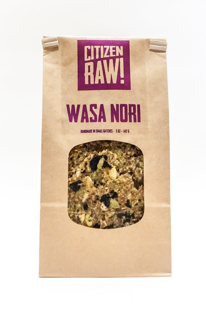 Citizen Raw - ''WASA NORI'' - Crispy Raw Dehydrated Flax Seed based Sprouted Crackers by Citizen Raw