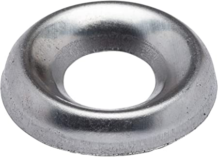 100 1//4 Stainless Countersunk//Cup Finishing Washers