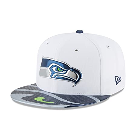 New Era Men Caps Fitted Cap NFL Offical On Stage Seattle Seahawks White 7 1 c94f0fe33