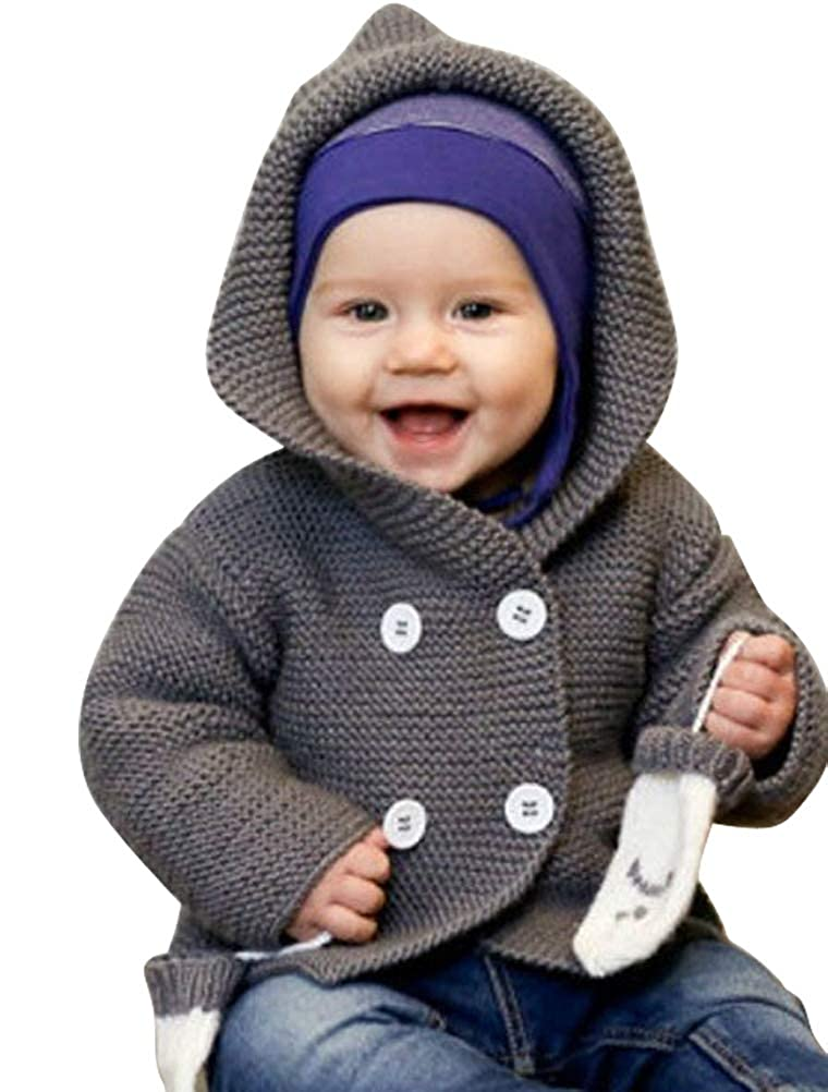 ARAUS Cardigan Sweater Baby Girl Boy Knitted Coat Hooded Jacket Autumn Winter Clothes 0-4 Years