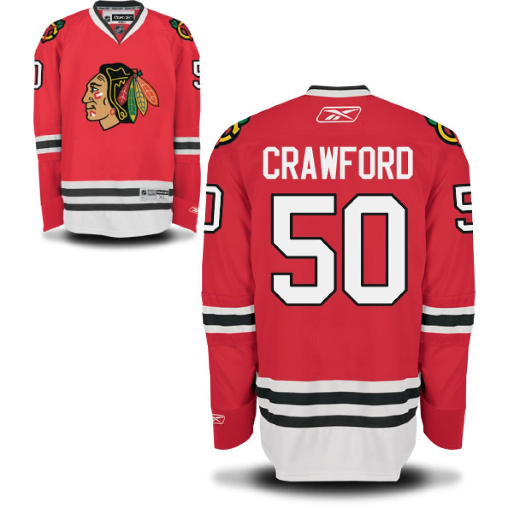 49be16b52 chic Corey Crawford Chicago Blackhawks Youth Red Home Premier Jersey by  Reebok Select Size  Large