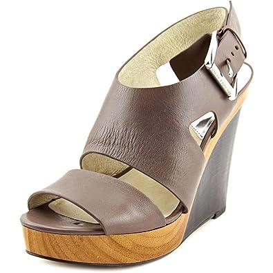 177a7966815 MICHAEL Michael Kors Womens Carla Platform Wedge Leather Open