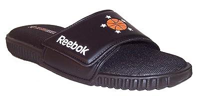 amazon com reebok men s synthetic reeperform velcro slide sandal