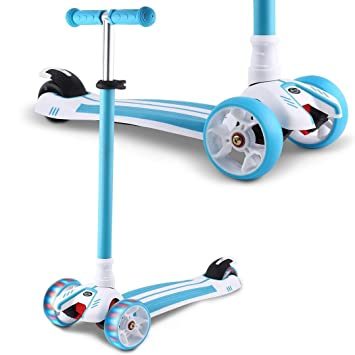 Amazon.com: CINUE Patinete plegable para niños, con forma de ...