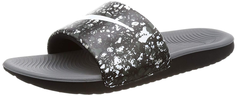 Nike Kawa Slide Big Kids (5 Y US, Black/White-Dark Grey)