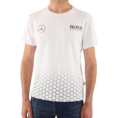 HUGO BOSS - MERCEDES - Camiseta Stretch para hombre - blanco, XL: Amazon.es: Ropa y accesorios