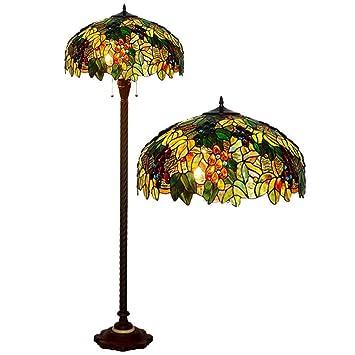 WFTD Lámpara de pie Tiffany, 20 Pulgadas de luz de Piso ...
