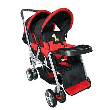 Baby Travel - Silla De Paseo Universal Pram Duo Twin con Capota para Lluvia con Capazo