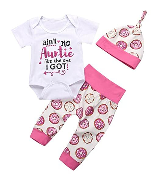 07946b117a5 EGELEXY Toddler Baby Girl Short Sleeves Cute Romper Jumpsuit Pants  Headbands Set Outfits Size 0-