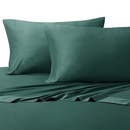 Queen Teal Ultra Soft Bed Sheets 100% Rayon From Bamboo Sheet Set