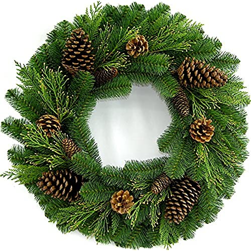 b artificial n stewart lights decorations martha lit with clear winslow decor wreaths pre fir christmas decorated living garland holiday