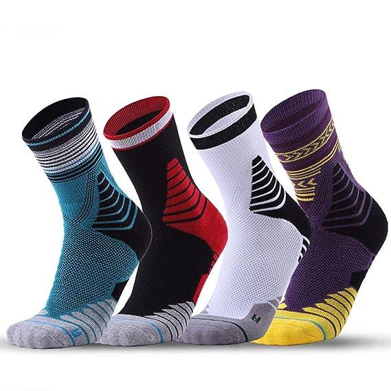 Calcetines Deportivos Hombre Running, Hombre Calcetines de Deporte para Ciclismo Baloncesto Tenis Correr, Acolchado, EU 40-46, 4 Pares: Amazon.es: Ropa y ...