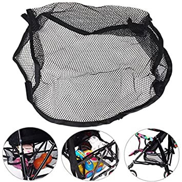 Amazon.com : SMALL SIZE Universal Black Under Storage Net Bag Buggy Stroller Pram Basket Shopping Baby Item Pushchair Pocket by Kungfu Mall by kungfu Mall : ...
